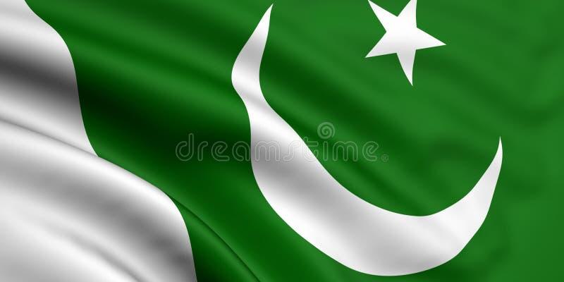 Vlag van Pakistan stock illustratie