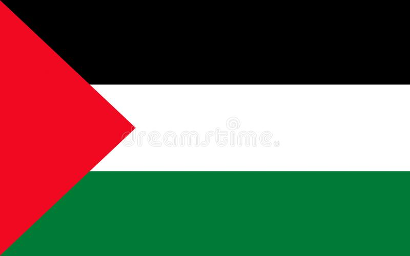 Vlag van Palestina stock illustratie