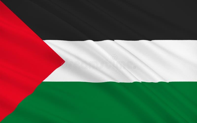 Vlag van Palestina royalty-vrije illustratie