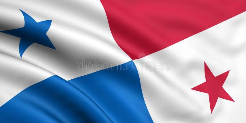 Vlag van Panama stock illustratie