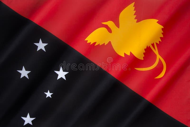 Vlag van Papoea-Nieuw-Guinea stock afbeeldingen