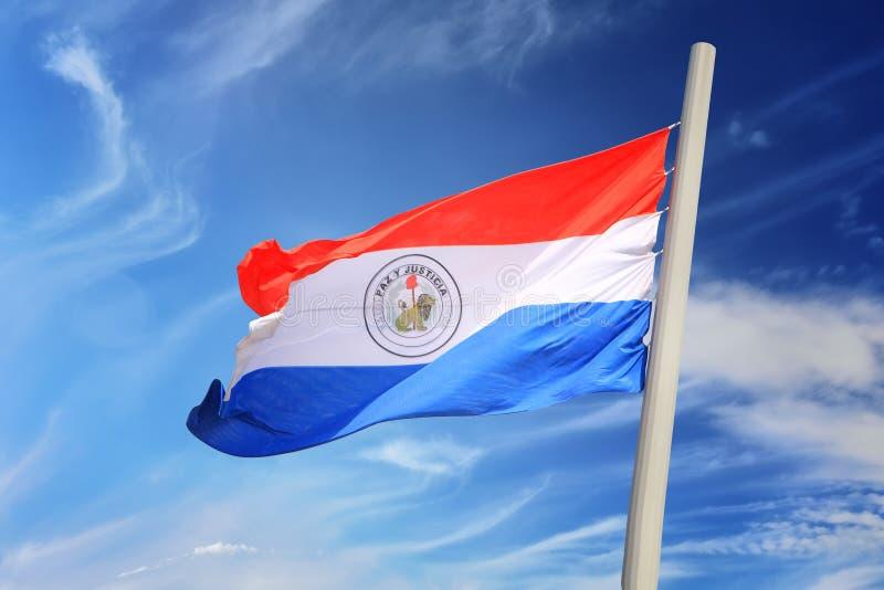 Vlag van Paraguay royalty-vrije stock afbeeldingen