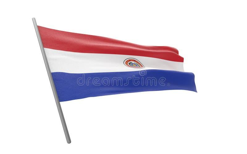 Vlag van Paraguay royalty-vrije illustratie