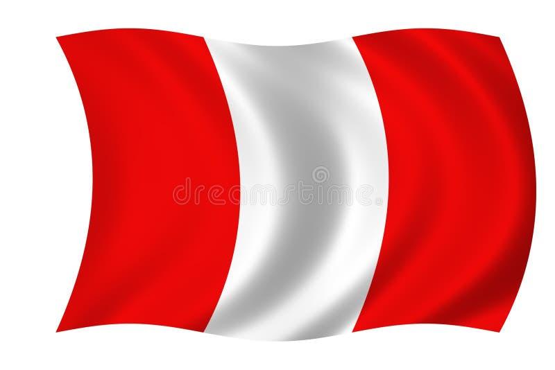 Vlag van Peru stock illustratie