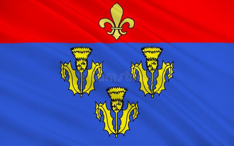 Vlag van Pithiviers, Frankrijk stock foto's