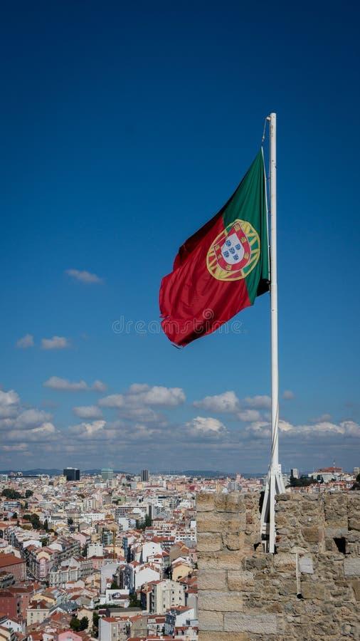 Vlag van Portugal royalty-vrije stock afbeeldingen