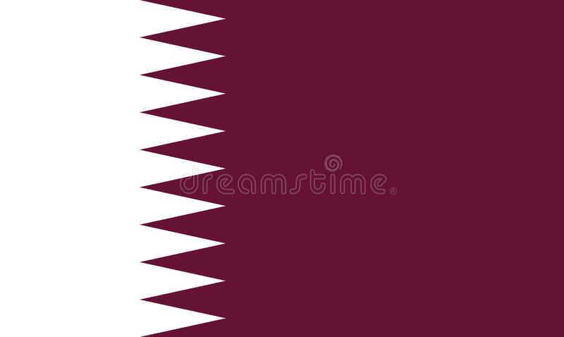 Vlag van Qatar stock illustratie