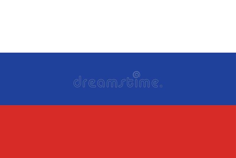 Vlag van Rusland royalty-vrije illustratie