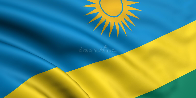 Vlag van Rwanda stock foto's