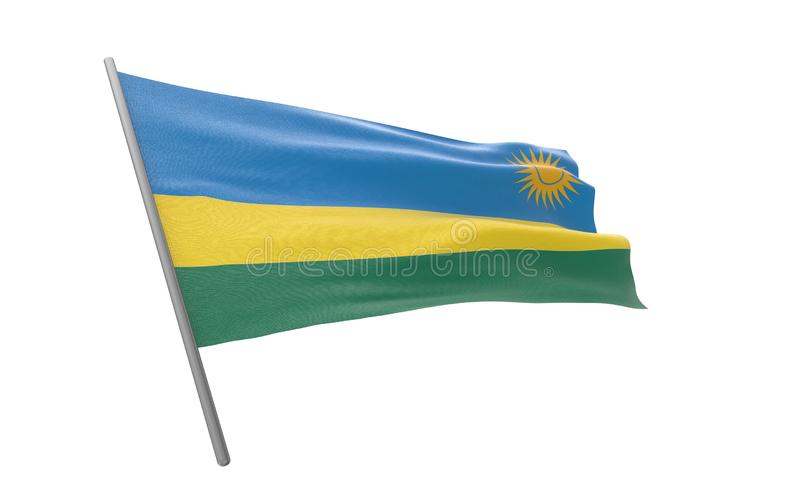 Vlag van Rwanda stock illustratie