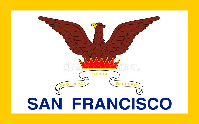 Vlag van San Francisco, Californië, de V.S. stock foto