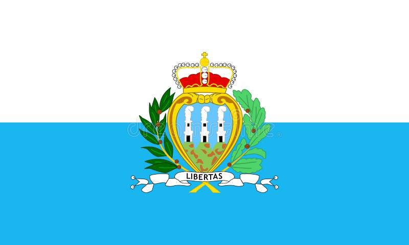 Vlag van San Marino vector illustratie
