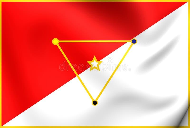 Vlag van San Miguelito District royalty-vrije illustratie
