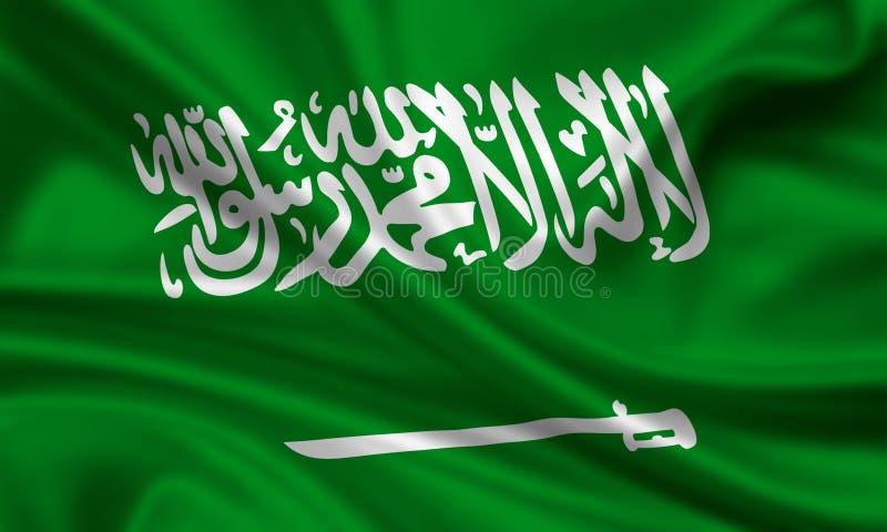 Vlag van Saudi-Arabië royalty-vrije stock afbeeldingen