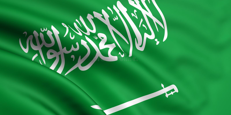 Vlag van Saudi-Arabië stock illustratie