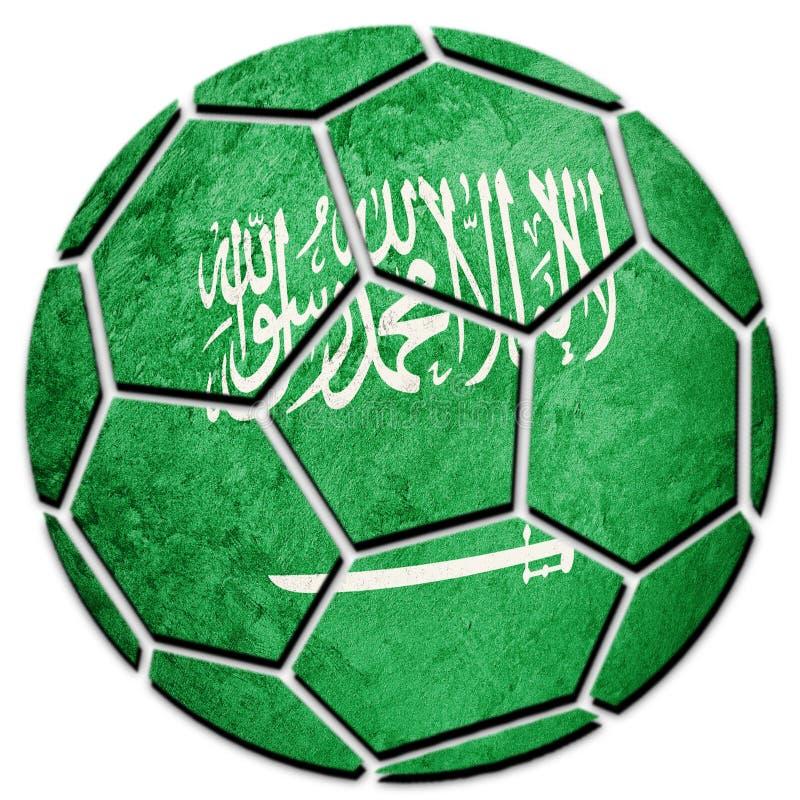 Vlag van Saudi-Arabië van de voetbalbal de nationale De voetbalbedelaars van Saudi-Arabië royalty-vrije stock fotografie