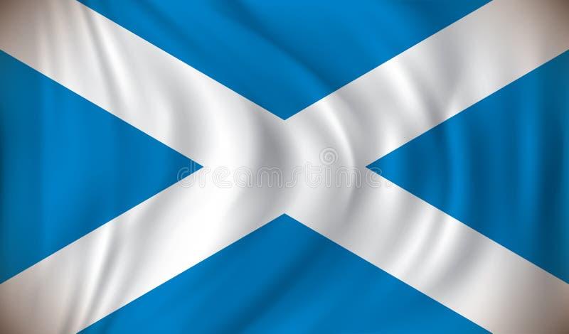 Vlag van Schotland stock illustratie