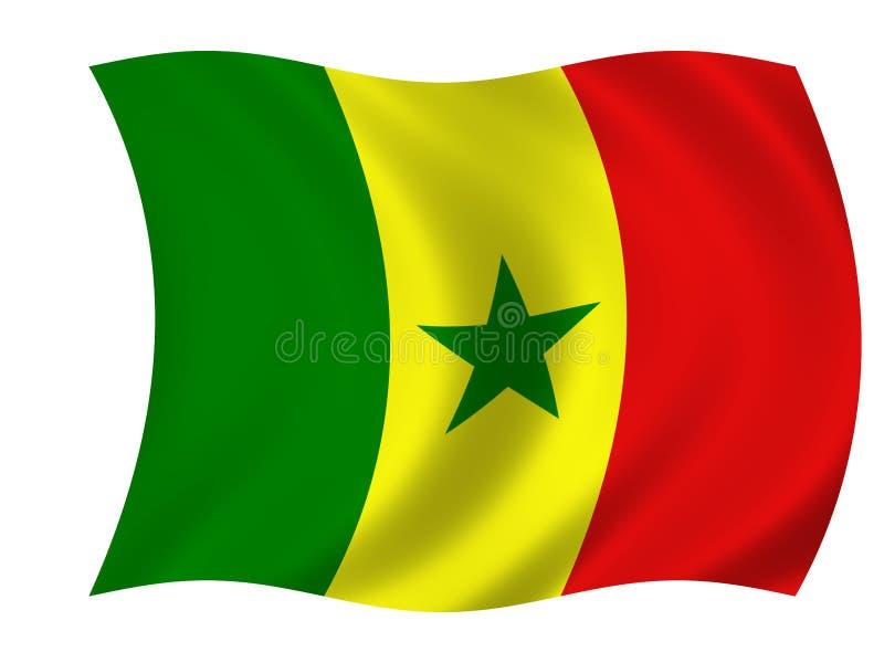 Vlag van Senegal stock illustratie