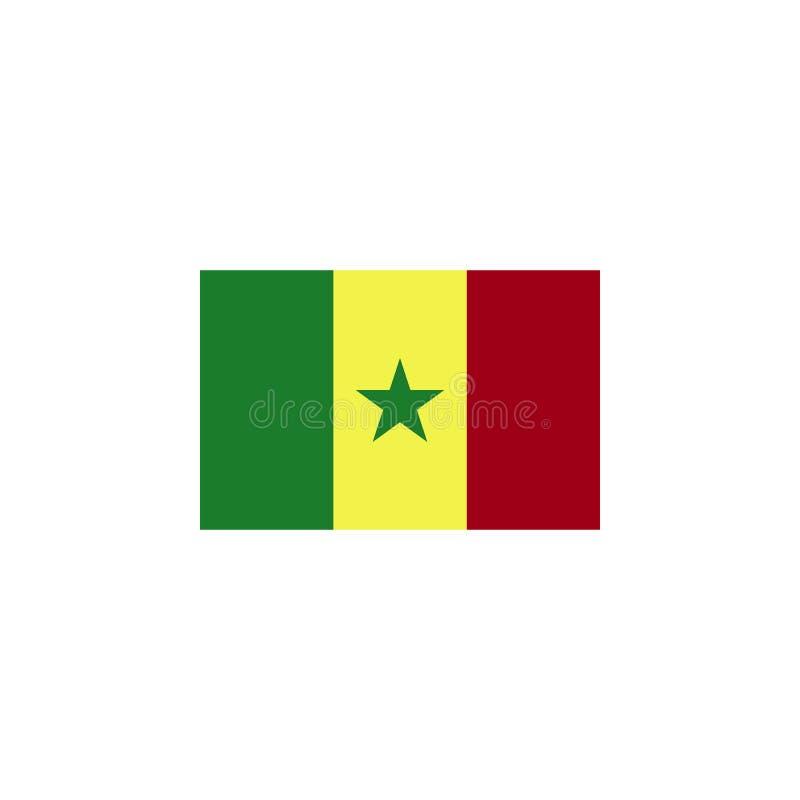 vlag van Senegal gekleurd pictogram Elementen van het pictogram van de vlaggenillustratie De tekens en de symbolen kunnen voor We vector illustratie