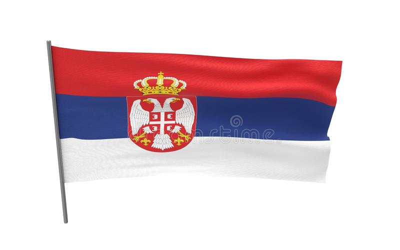 Vlag van Servi? stock afbeelding