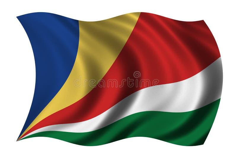 Vlag van Seychellen stock illustratie