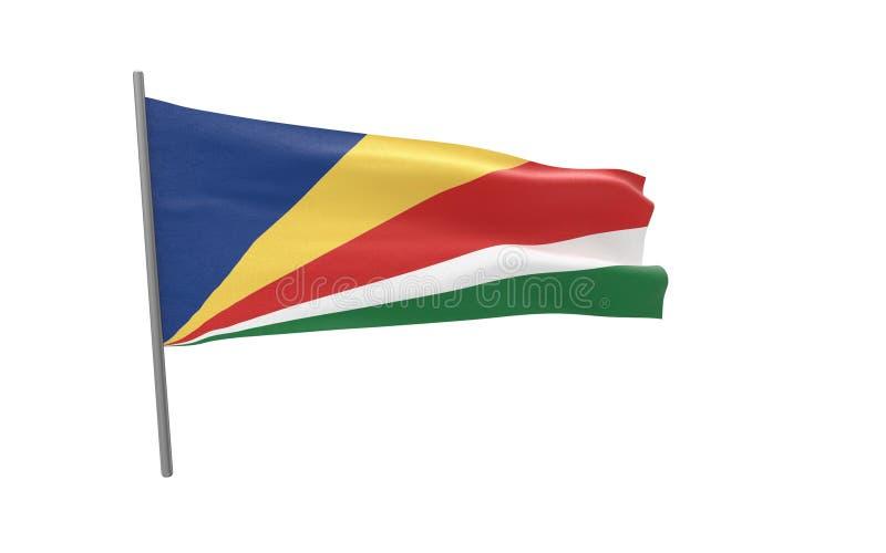 Vlag van Seychellen vector illustratie