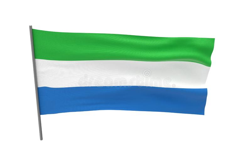 Vlag van Sierra Leone stock afbeelding