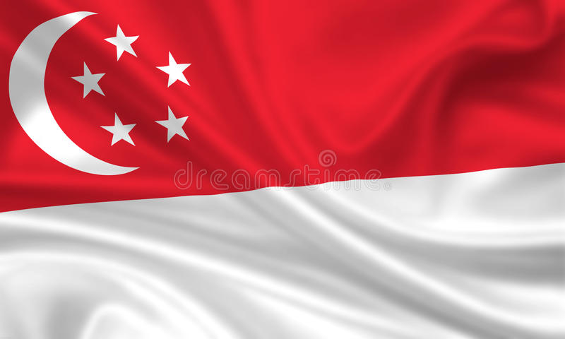 Vlag van Singapore vector illustratie