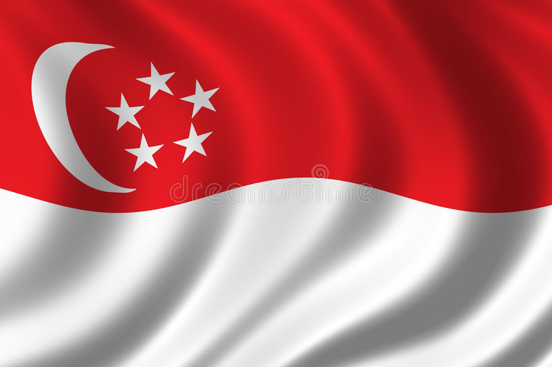 Vlag van Singapore stock illustratie