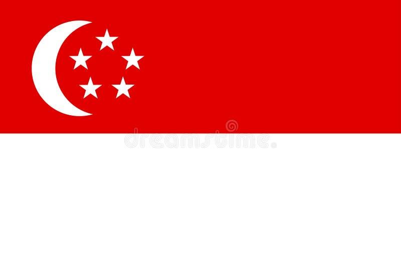 Vlag van Singapore royalty-vrije illustratie
