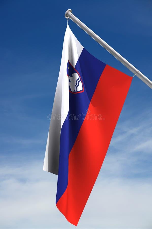 Vlag van Slovenië royalty-vrije illustratie