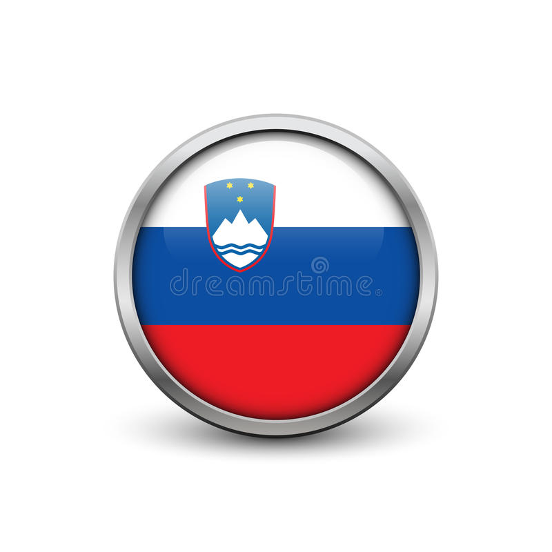 Vlag van Slovenië vector illustratie
