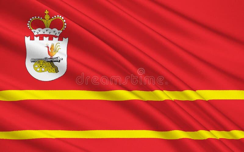 Vlag van Smolensk Oblast, Russische Federatie royalty-vrije illustratie