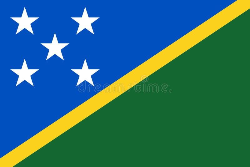 Vlag van Solomon Islands royalty-vrije illustratie