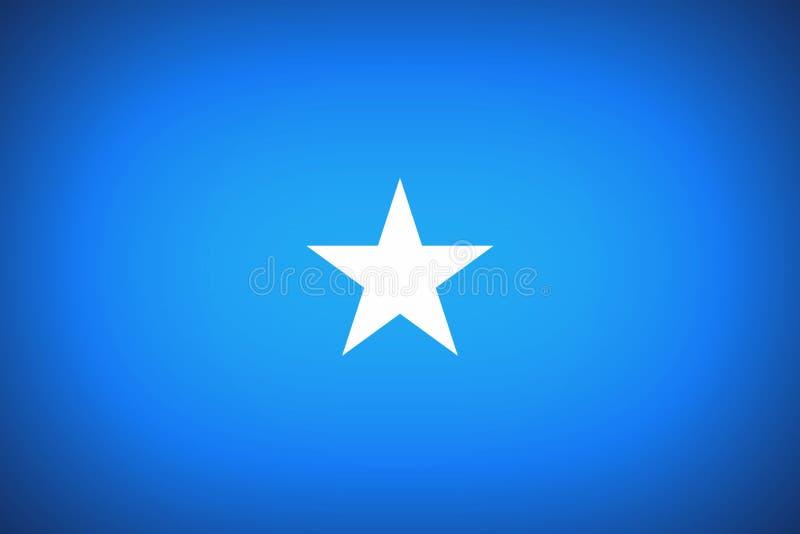 Vlag van van Somalië stock illustratie