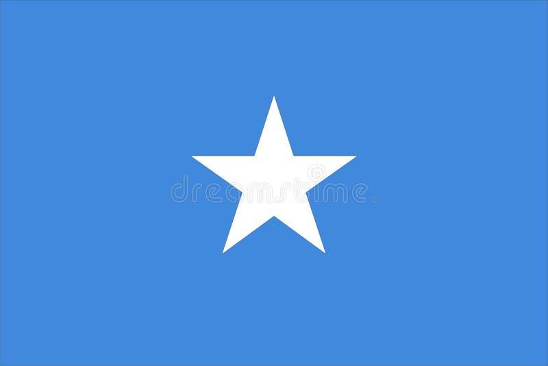 Vlag van Somalië stock illustratie