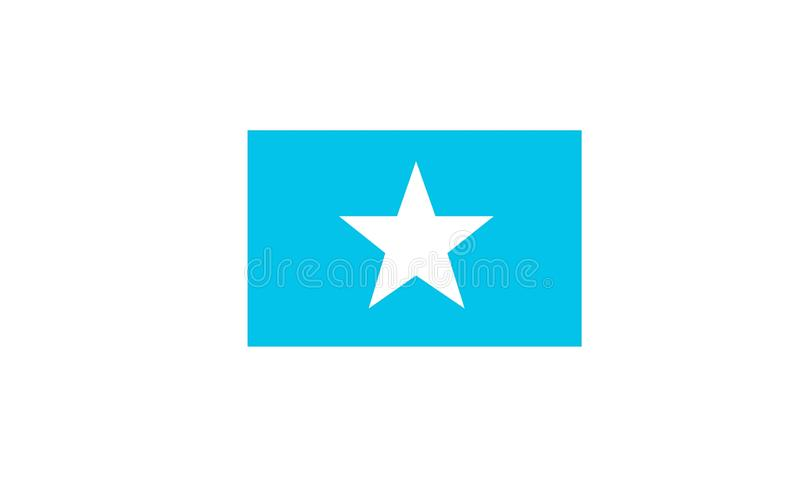 Vlag van Somalië royalty-vrije illustratie