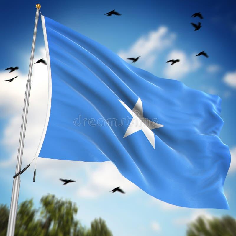 Vlag van Somalië vector illustratie
