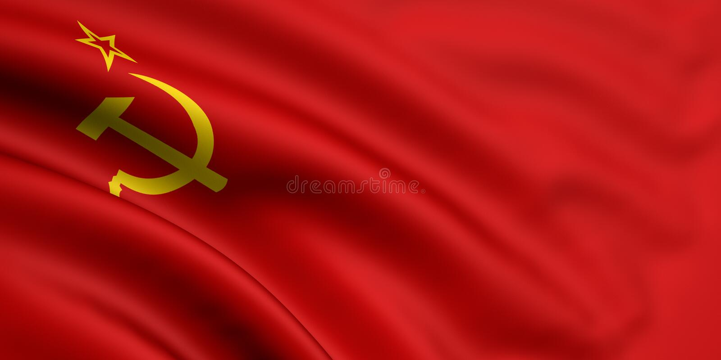 Vlag van Sovjetunie stock illustratie