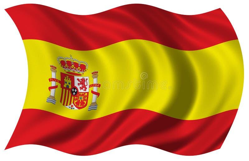 Vlag van Spanje stock illustratie