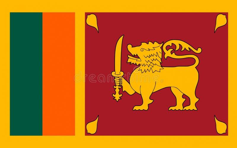 Vlag van Sri Lanka royalty-vrije illustratie