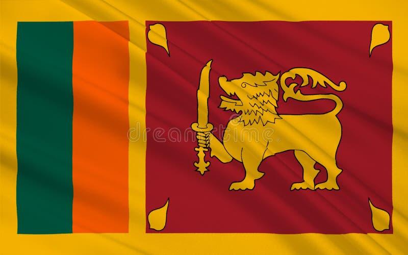 Vlag van Sri Lanka vector illustratie