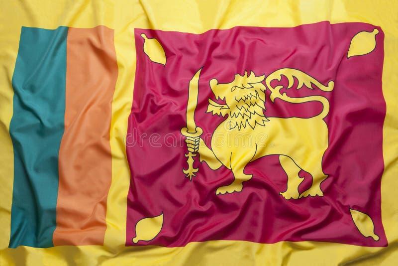 Vlag van Sri Lanka royalty-vrije stock afbeelding