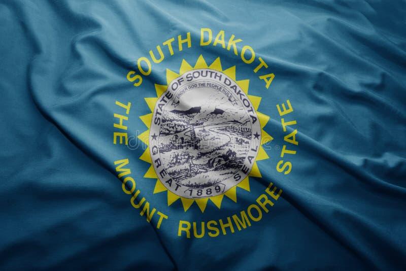 Vlag van staat de Zuid- van Dakota royalty-vrije stock fotografie