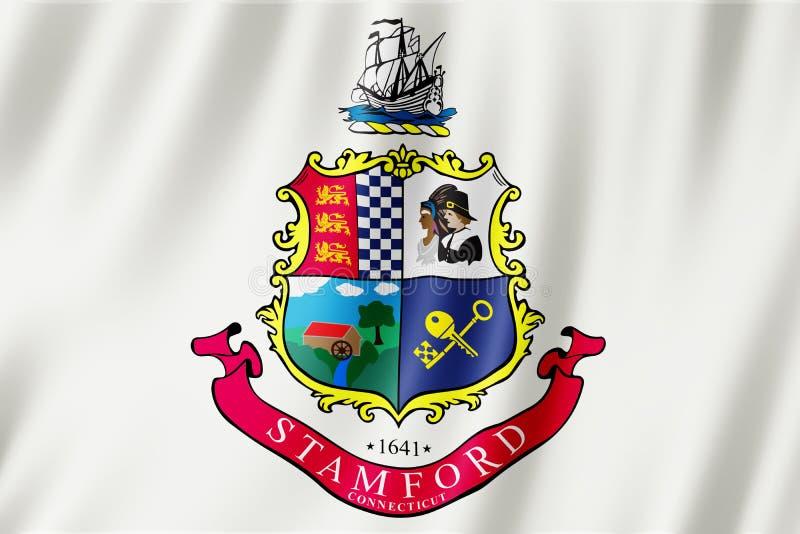Vlag van Stamford-stad, Connecticut de V.S. stock illustratie