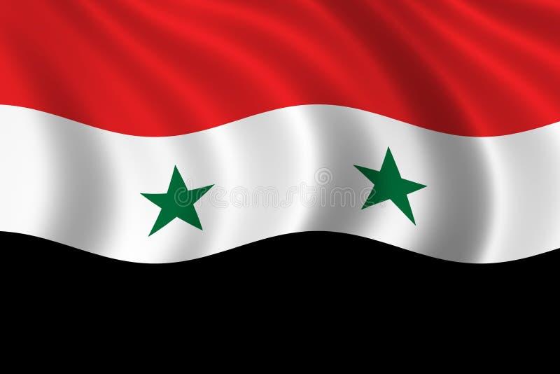 Vlag van Syrië vector illustratie