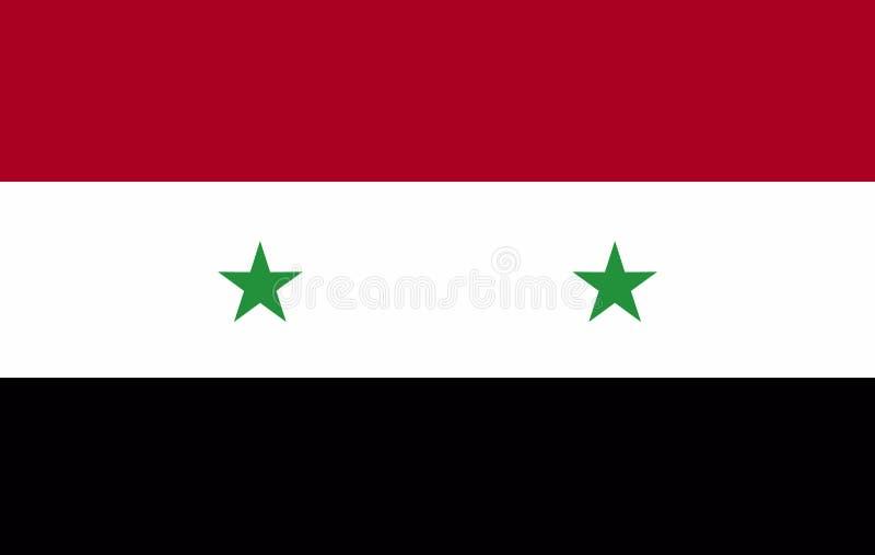 Vlag van Syrië royalty-vrije illustratie
