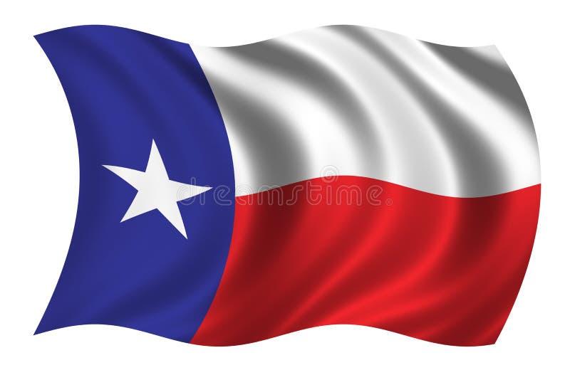 Vlag van Texas royalty-vrije illustratie