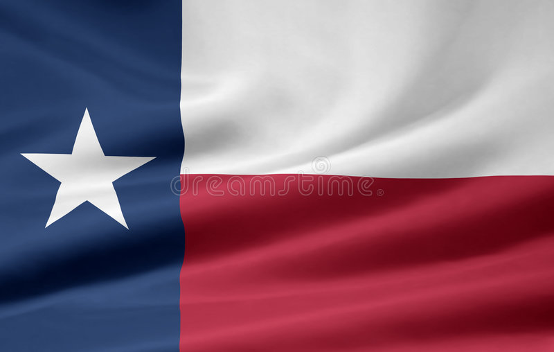 Vlag van Texas vector illustratie