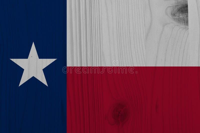 Vlag van Texas Background, de Lone Star-Staat, de Vriendschapsstaat vector illustratie